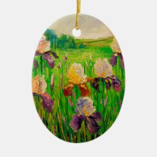 Irissen Keramisch Ovaal Ornament