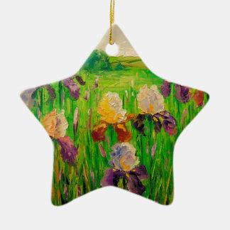 Irissen Keramisch Ster Ornament
