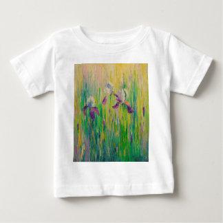 Irissen op gebied baby t shirts