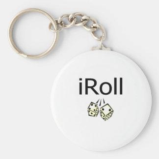 iRoll Basic Ronde Button Sleutelhanger