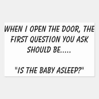 """""""Is de baby in slaap"""" Sticker"""