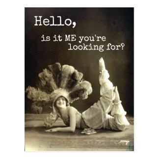 Is de Vintage Danser van Hello het me u zoekt Briefkaart
