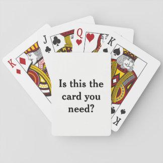 Is dit de kaart u behoefte? Het grappige Dek van