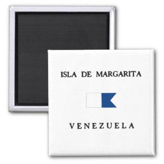 Isla DE Margarita Alpha- Venezuela duikt Vlag Magneet