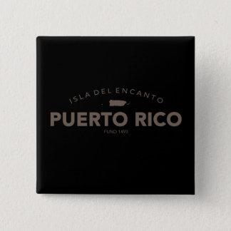 Isla del Encanto, Puerto Rico Vierkante Button 5,1 Cm