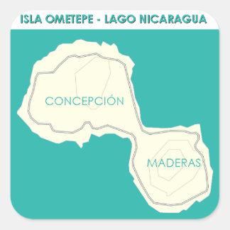 Isla Ometepe Vierkante Sticker