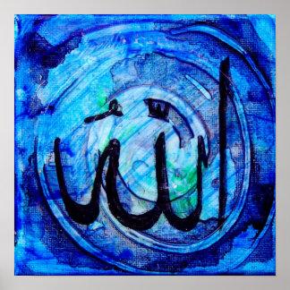 Islamitische Kalligrafie - له Allāh Poster