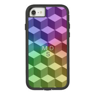 Isometrische Geometrische Regenboog Case-Mate Tough Extreme iPhone 8/7 Hoesje