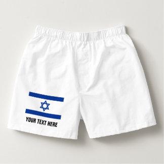 Israëlisch de borrelsondergoed van de vlagbokser