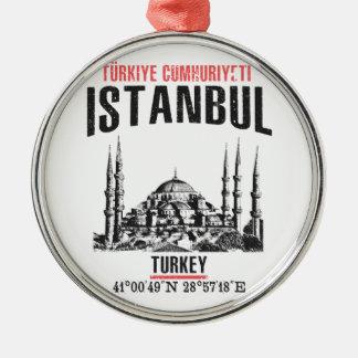 Istanboel Zilverkleurig Rond Ornament