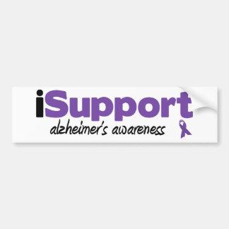 iSupport Alzheimers Bumpersticker