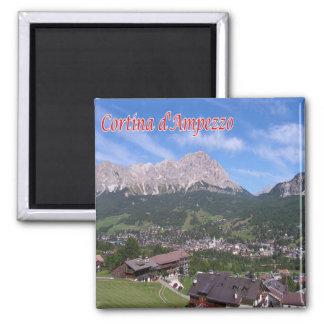 IT - Italië - Cortina D'Ampezzo Vierkante Magneet