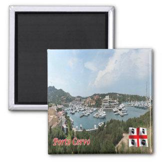 IT - Italië - Porto Cervo - de Haven Vierkante Magneet
