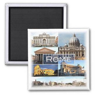 IT * Italië - Rome - Rome Italië Vierkante Magneet