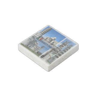 IT Italië - Torre Di Pisa Italië - Stenen Magneet