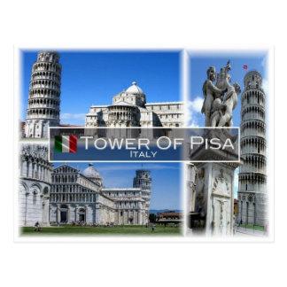 IT Italië - Toscanië - de Leunende Toren van Pisa Briefkaart