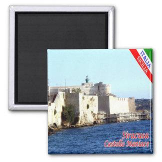 IT - Sicilië - Siracusa - Kasteel Maniace Vierkante Magneet