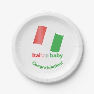 Italiaans baby papieren bordjes