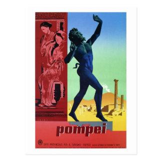 Italiaans de reisposter van vintage Pompei Briefkaart