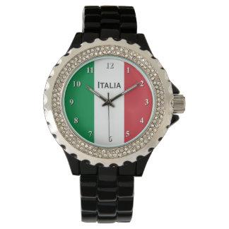 Italiaans vlagpolshorloge voor man en vrouwen polshorloge