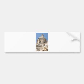 Italiaanse architectuur in Piazza Navona, Rome, Bumpersticker