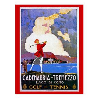 Italiaanse de reisadvertentie van het vintage van briefkaart
