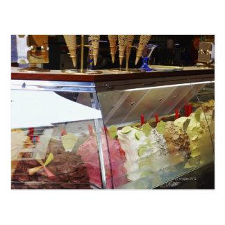 Italiaanse gelato in vitrine briefkaart