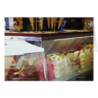 Italiaanse gelato in vitrine wenskaart