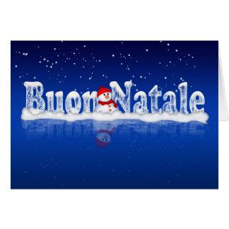 Italiaanse Kerstkaart - Buon Natale e Felice Anno Wenskaart