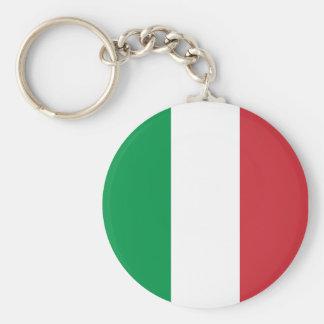Italiaanse Kleuren Keychain Basic Ronde Button Sleutelhanger