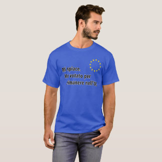 Italiaanse Mi spiace. Votato van Ho per rimanere T Shirt
