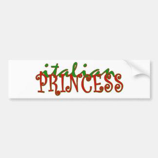Italiaanse Prinses Bumpersticker