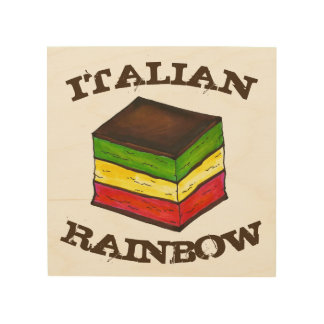 Italiaanse Regenboog de Keuken van het Baksel van Hout Afdruk