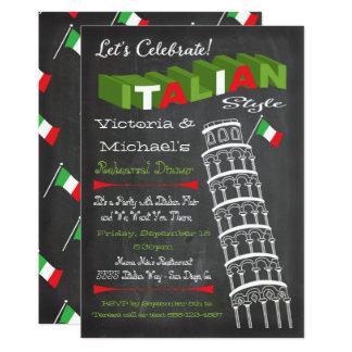 Italiaanse Toren van de Verjaardag van het Diner 12,7x17,8 Uitnodiging Kaart