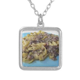 Italiaanse verse fettuccine of zilver vergulden ketting