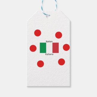 Italiaanse Vlag en het Ontwerp van de Taal van Cadeaulabel