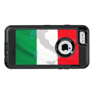 Italiaanse vlag en Italië OtterBox Defender iPhone Hoesje