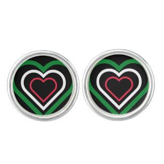 Italiaanse vlag-Geïnspireerde Cufflinks van het Manchetknopen