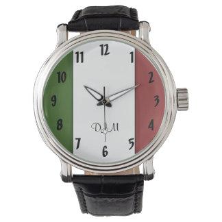 Italiaanse Vlag Horloge