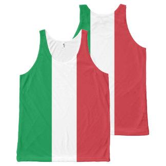 Italiaanse Vlag - Vlag van Italië - Italië All-Over-Print Tank Top