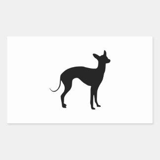 Italiaanse Windhond Rechthoek Sticker