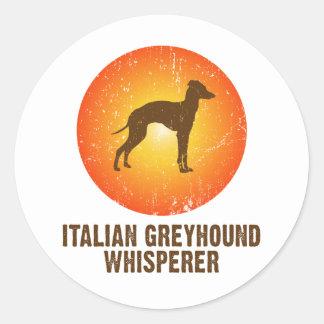 Italiaanse Windhond Ronde Stickers