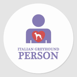 Italiaanse Windhond Ronde Sticker