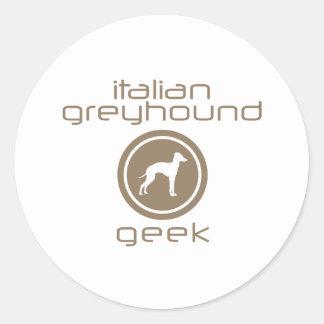 Italiaanse Windhond Ronde Sticker
