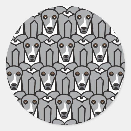 Italiaanse Windhonden Ronde Sticker