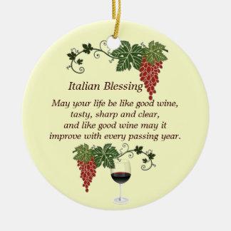 Italiaanse Zegen Rond Keramisch Ornament