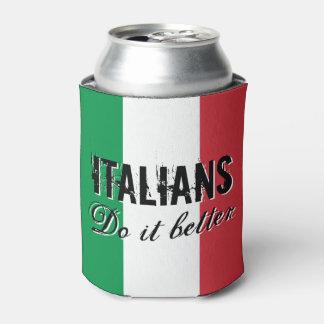 Italianen het beter koelbox met de vlag van Italië Blikjeskoeler