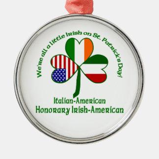Italië Iers weinig Zilverkleurig Rond Ornament