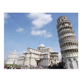 Italië, Pisa. Kathedraal, doopkapel en het Leunen Briefkaart