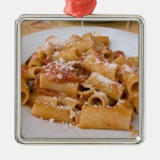 Italië, Positano. Het bord van de vertoning van Zilverkleurig Vierkant Ornament